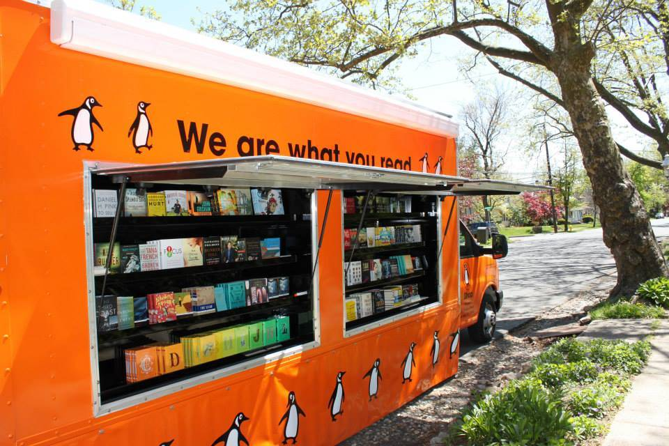 Photo from the Penguin Book Truck Facebook page.