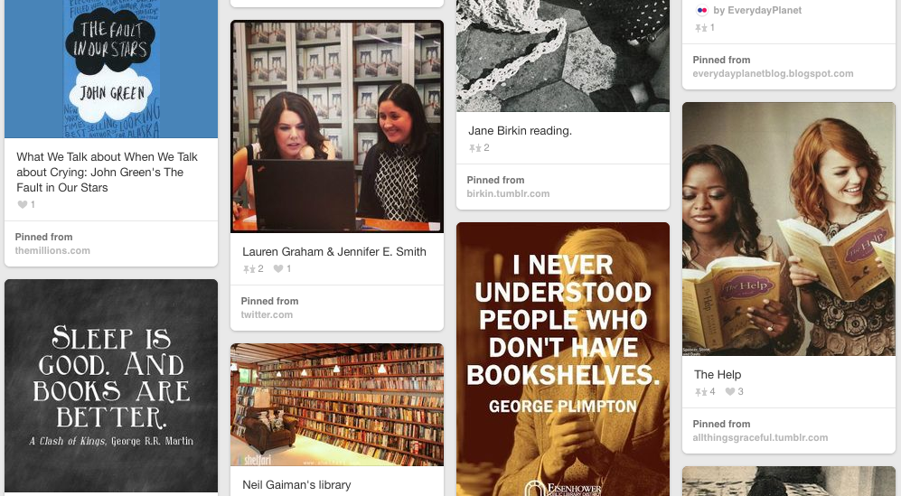 Pinterest for Bookish Types